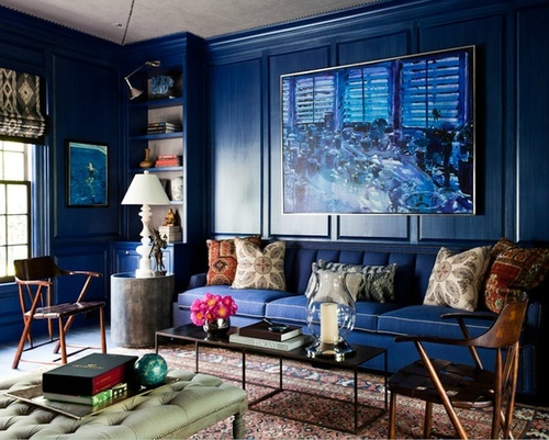 Thom-Filicia-Dark-Indigo-Blue-Wall-Colour