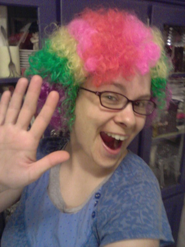 Hi! I'm also a clown around these parts. My kids think I'm hilarious. Maybe I am. No photoshopping here. ;)